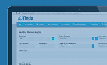 tindo, ilha software, traslado, cadastro das reservas in/out, pax